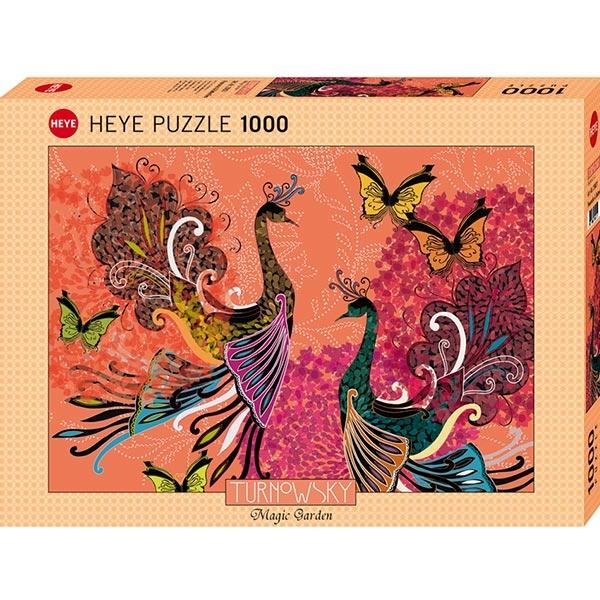 Heye puzzle 1000 pcs Turnowsky Peacocks& Butterflies 29821 - ODDO igračke