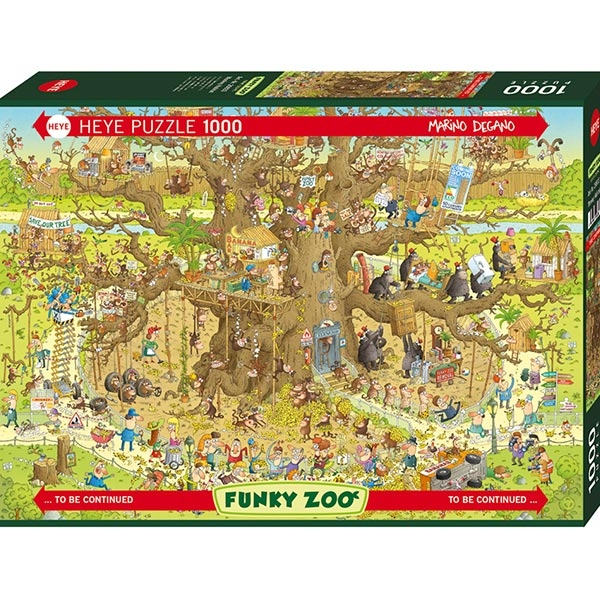Heye puzzle 1000 pcs Degano Fanky Zoo Monkey House 29833 - ODDO igračke
