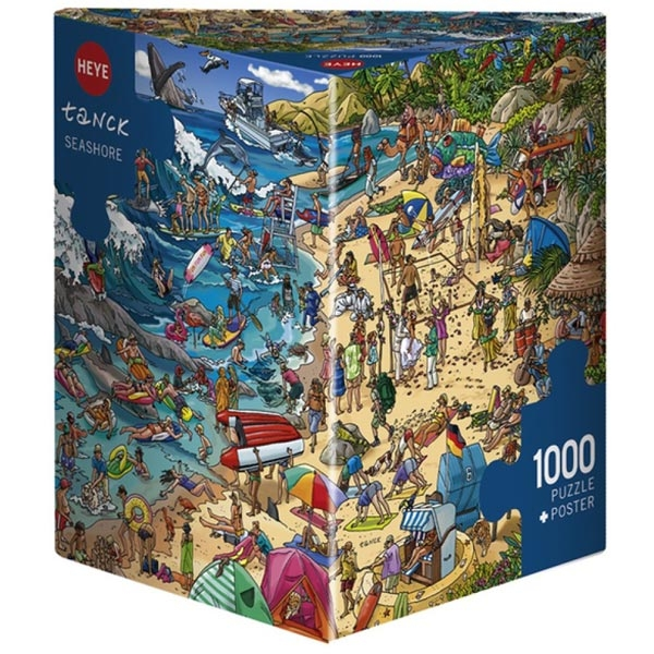 Heye puzzle 1000 pcs Triangle Tanck Seashore 29922 - ODDO igračke