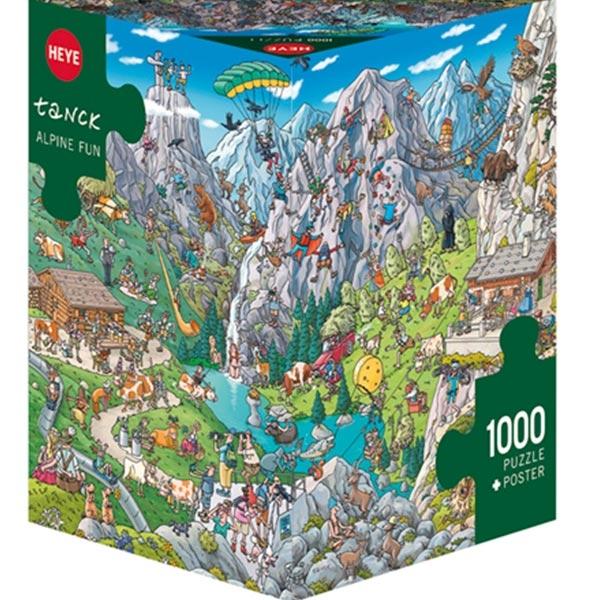 Heye puzzle 1000 pcs Triangle Tanck Alpine Fun 29680 - ODDO igračke