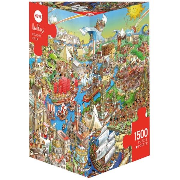 Heye puzzle 1500 pcs Triangle Prades History River 29890 - ODDO igračke