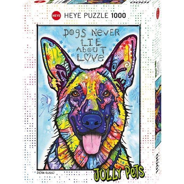 Heye puzzle 1000 pcs Jolly Pets Dogs Never Lie 29732 - ODDO igračke