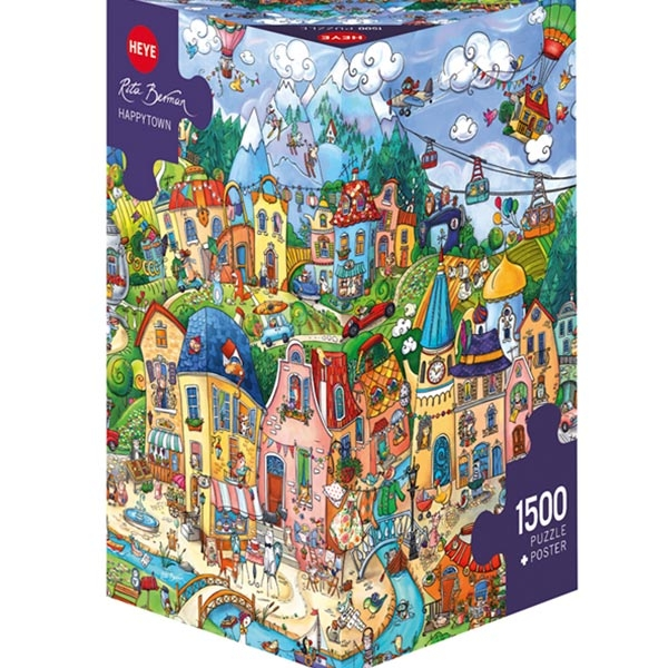 Heye puzzle 1500 pcs Triangle Berman Happytown 29744 - ODDO igračke