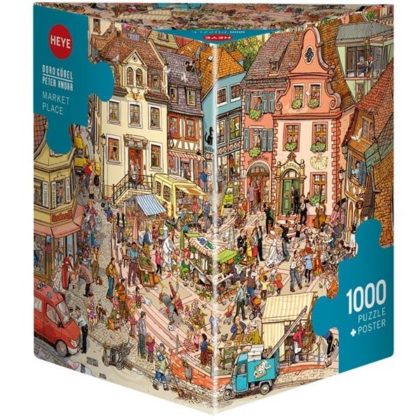 Heye puzzle 1000 pcs Triangle Gobel/Knorr Market Place 29884 - ODDO igračke
