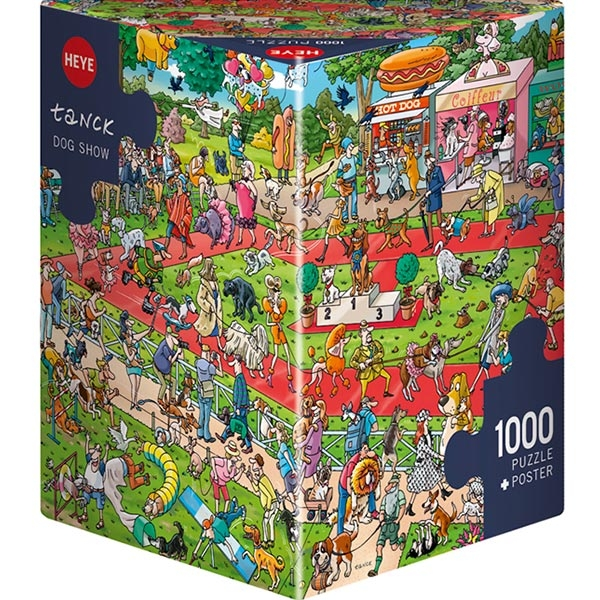 Heye puzzle 1000 pcs Triangle Tanck Dog Show 29788 - ODDO igračke