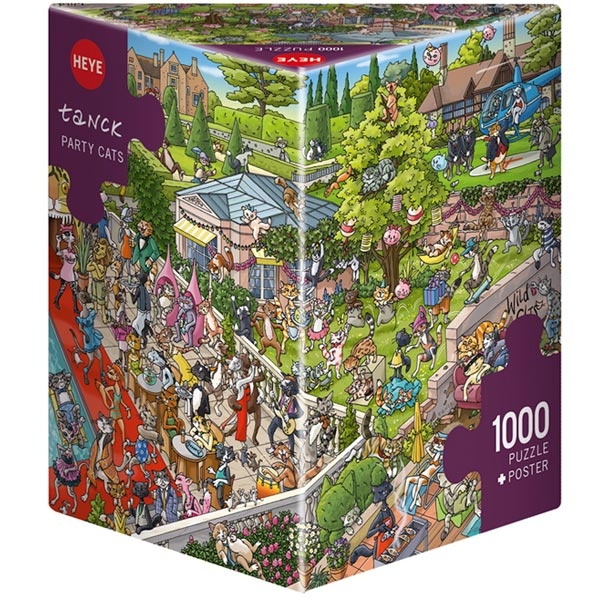 Heye puzzle 1000 pcs Triangle Tanck Party Cats 29838 - ODDO igračke
