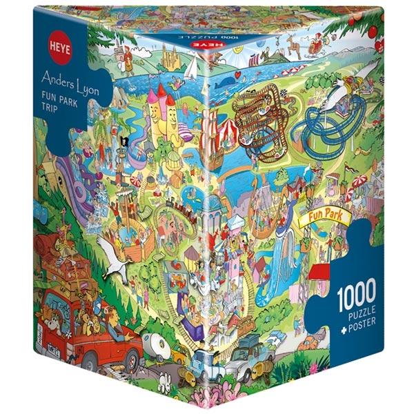 Heye puzzle 1000 pcs Triangle Lyon Fun Park Trip 29837 - ODDO igračke