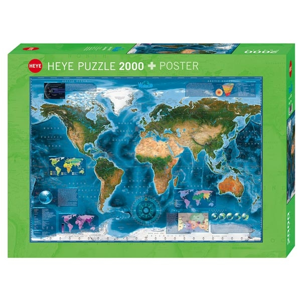Heye puzzle 2000 pcs Map Art Satellite Map 29797 - ODDO igračke