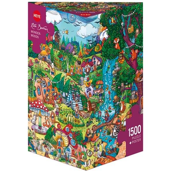 Heye puzzle 1500 pcs Triangle Berman Wonderwoods 29792 - ODDO igračke