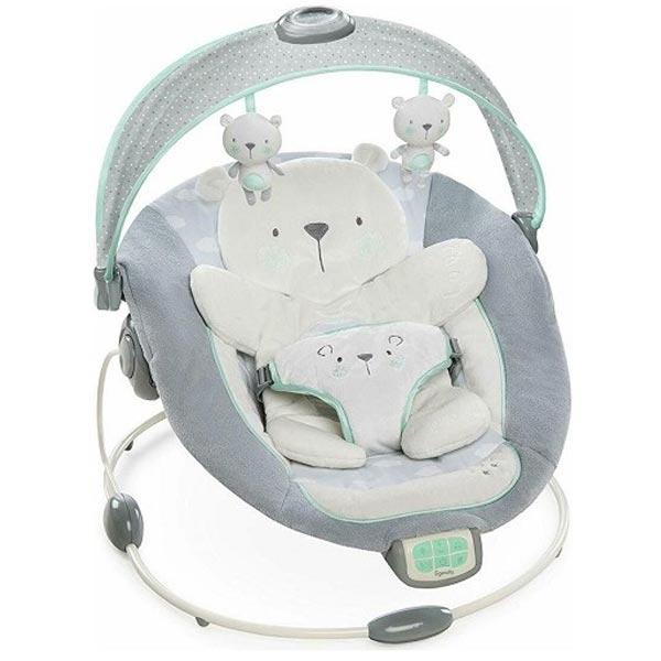 KIDS II Ingenuity Lezaljka InLighten Bouncer - Twinkle Twinkle Teddy Bear Multicolor - Cuna SKU60726 - ODDO igračke