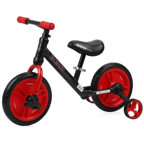 Bicikl balance bike energy 2 in 1 - BLACK&RED Lorelli Bertoni 10050480002 - ODDO igračke