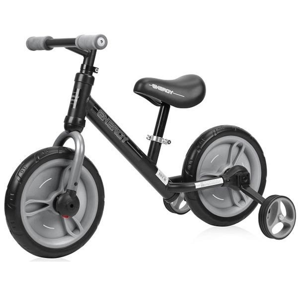 Bicikl balance bike energy 2 in 1 - BLACK&GREY  Lorelli Bertoni 10050480004 - ODDO igračke