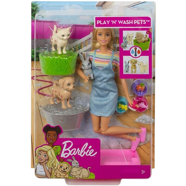 Barbie Play and Wash Pets set FXH11 - ODDO igračke