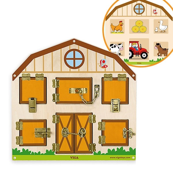 VIGA- Aktivity zidni pano Otključaj/zaključaj 51627 - ODDO igračke