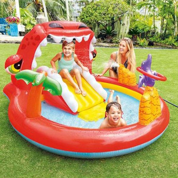Bazen Happy Dino Play Center 1.96 x 1.70 x 1.07m 57163NP - ODDO igračke