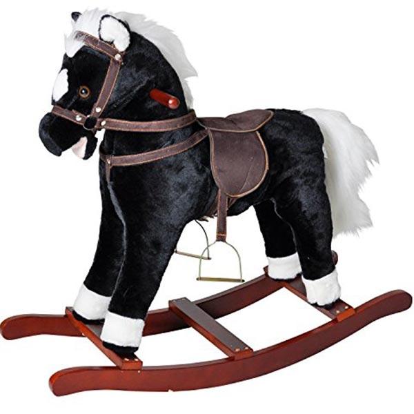 Klackalica Konjić plišani crni sa zvukom Knorr 40501 - ODDO igračke