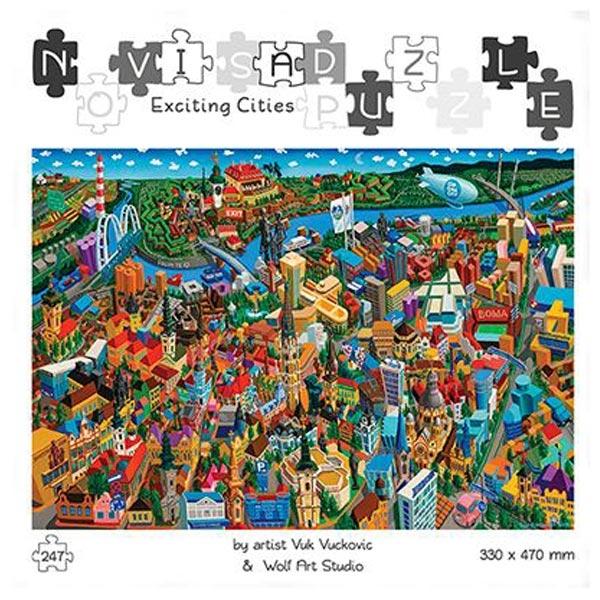 Slagalice Puzzle Uzbudljivi gradovi Novi Sad Wolf Art 247pcs - ODDO igračke