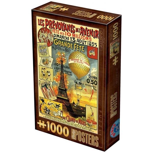 DToys puzzle Vintage Posters Paris 1000pcs 67555-20 - ODDO igračke