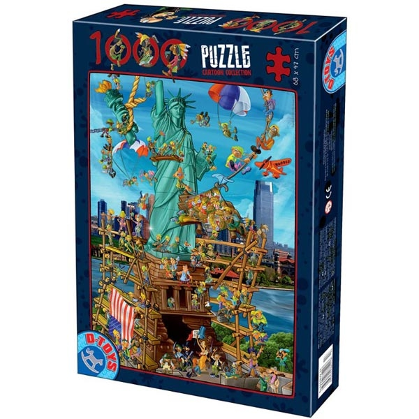 DToys puzzla Cartoon Collection New York 1000pcs 61218-13 - ODDO igračke