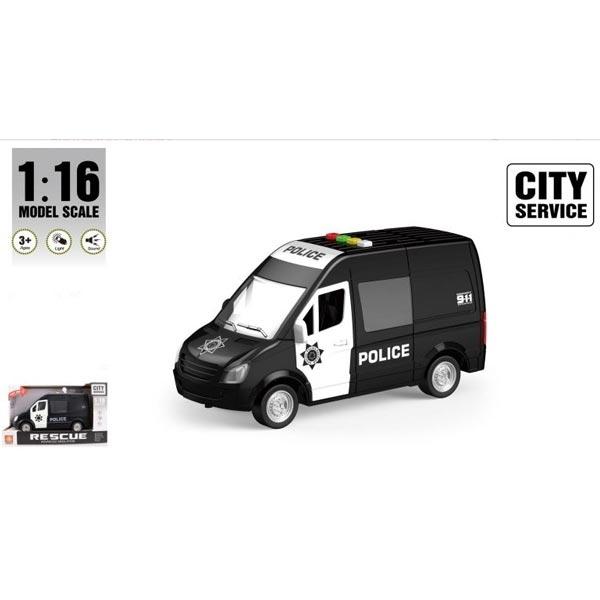 Kombi policijski crni sa zvukom i svetlom B/O 27,5x17x12cm WY590C - ODDO igračke