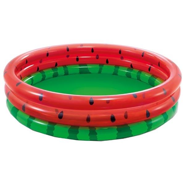 Dečiji Bazen Intex Lubenica 3 prstena 168×38cm 58448 - ODDO igračke