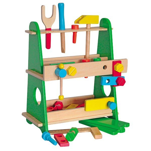Drveni montažni sto i alat Woody 90642 - ODDO igračke