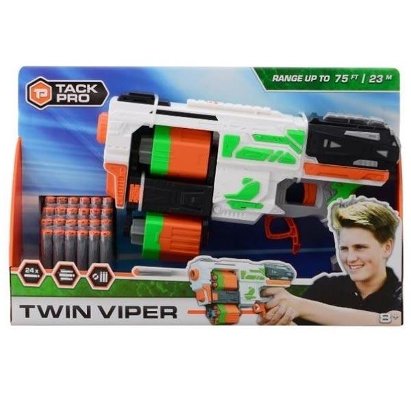 Puška Tack Pro Twin Viper 35cm sa 24 sundjerasta metka 31021 - ODDO igračke