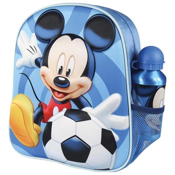 Ranac predškolski 3D+flašica Mickey Cerda 2100003052 plavi - ODDO igračke