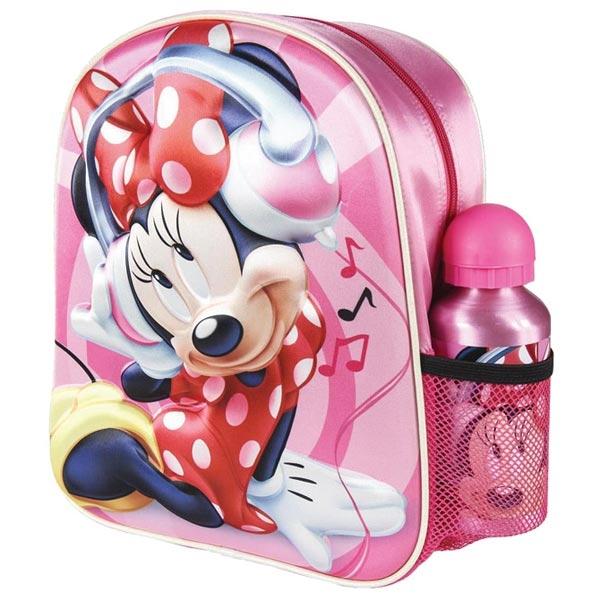 Ranac za vrtić 3D+flašica Minnie Cerda 2100003053 roze-crveni - ODDO igračke