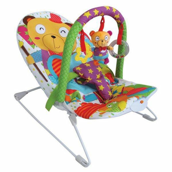 Ležaljka za bebe JUNGLE sa muzikom PrimeToys 169559 - ODDO igračke