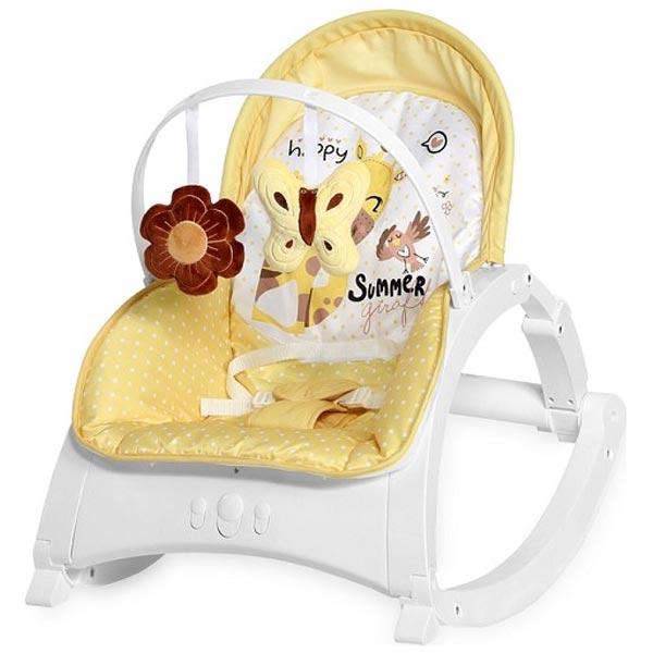 Ležaljka/ljuljaška Enjoy Yellow Giraffe Lorelli 10110112035 - ODDO igračke