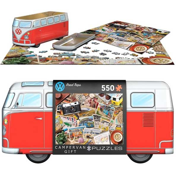 Eurographics VW Bus Tin - Road Trips 550 Pieces Puzzle 5576 - ODDO igračke
