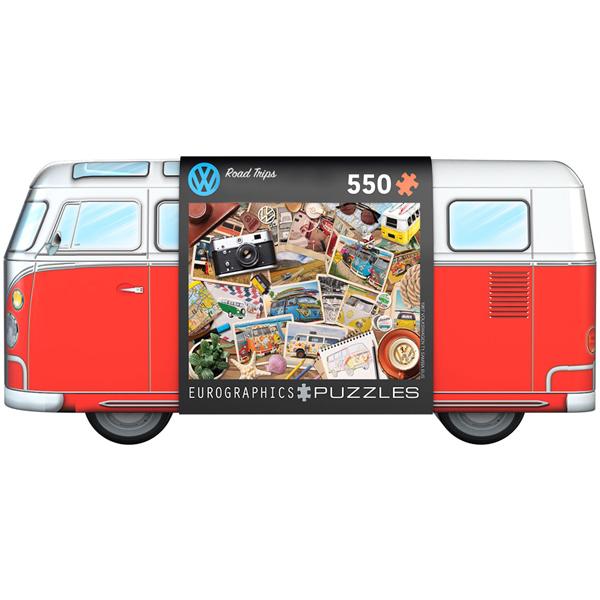 Eurographics VW Bus Tin - Road Trips 550 Pieces Puzzle 8551-5576 - ODDO igračke