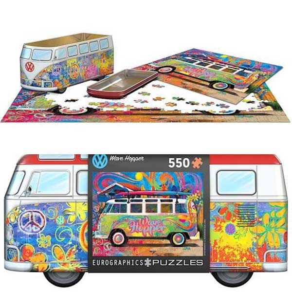 Eurographics VW Bus Tin - Wave Hopper 550 Pieces Puzzle 5561 - ODDO igračke