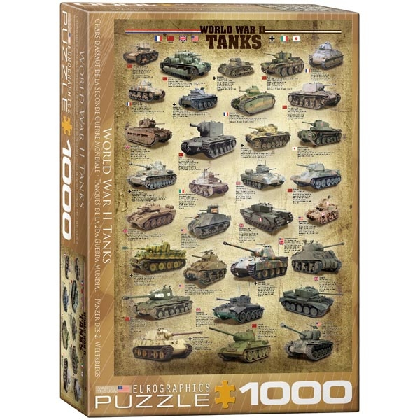 Eurographics World War II Tanks 1000pcs 6000-0388 - ODDO igračke