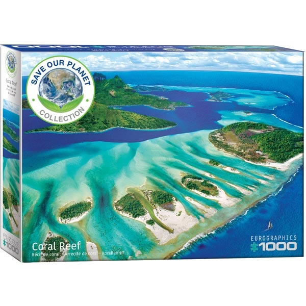 Eurographics Save Our Planet Puzzles Coral Reef 1000pcs 6000-5538 - ODDO igračke