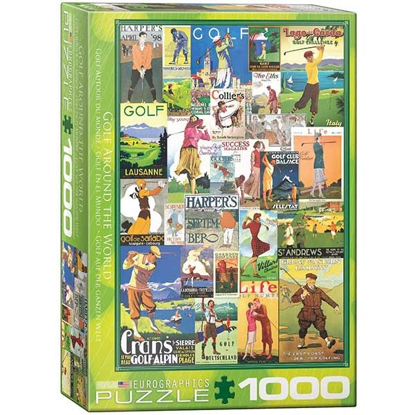 Eurographics Golf Around the World 1000-Piece Puzzle 0933 - ODDO igračke