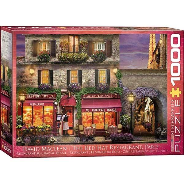 Eurographics The Red Hat Restaurant Pari 1000-Piece Puzzle 0963 - ODDO igračke