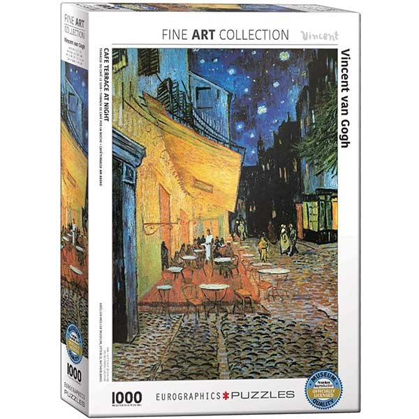 Eurographics Cafe Terrace at Nighte 1000-Piece Puzzle 2143 - ODDO igračke
