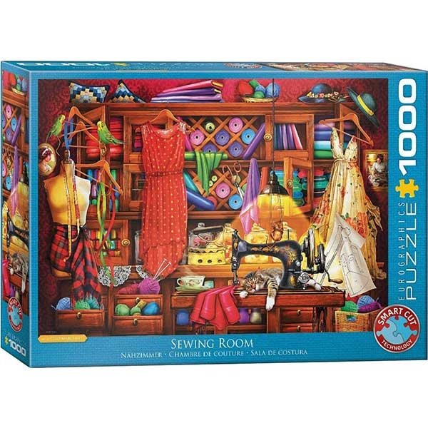 Eurographics Sewing Craft Room 1000-Piece Puzzle 5347 - ODDO igračke