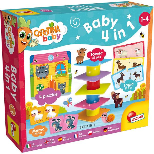 Carotina Edukativna igra 4 u 1 The Farm Lisciani 79872 - ODDO igračke