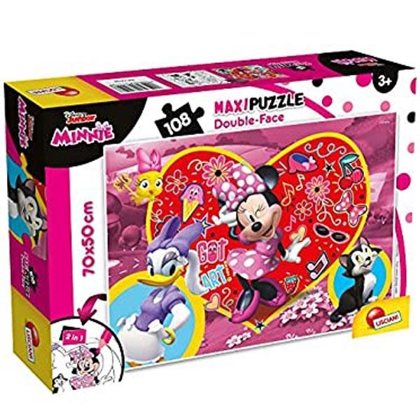 Slagalica Lisciani 108pcs Maxi Disney Minnie 2u1 slozi i oboji 74198 - ODDO igračke