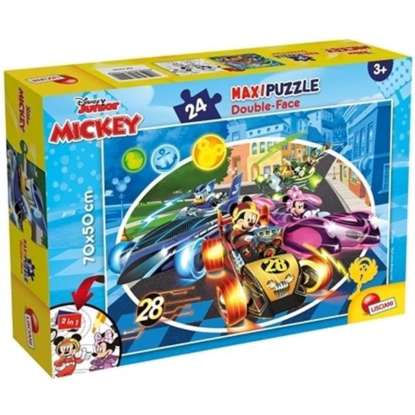Slagalica Lisciani 24pcs Maxi Mickey 2u1 slozi i oboji 74099 - ODDO igračke