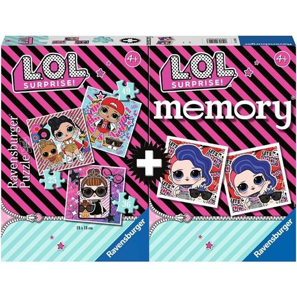 Ravensburger puzzle i memo - LOL iznenadjenje RA20549 - ODDO igračke