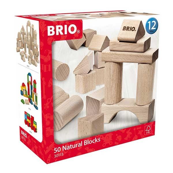 Set kocki  natural 50 komada Brio BR30113 - ODDO igračke