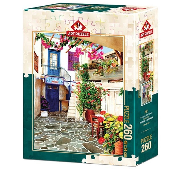 Art puzzle Countryard With Flowers 260 pcs - ODDO igračke