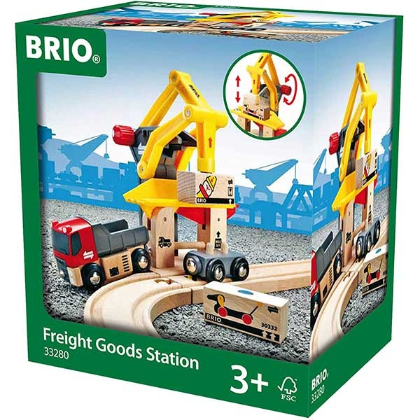 Delovi za prugu - stanica za teretnu robu - 6 delova  Brio BR33280 - ODDO igračke