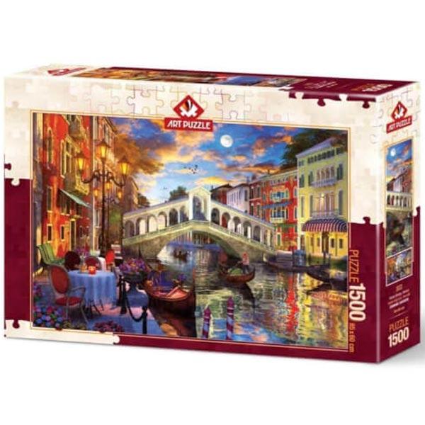 Art puzzle Rialto Bridge Venice 1500 pcs - ODDO igračke