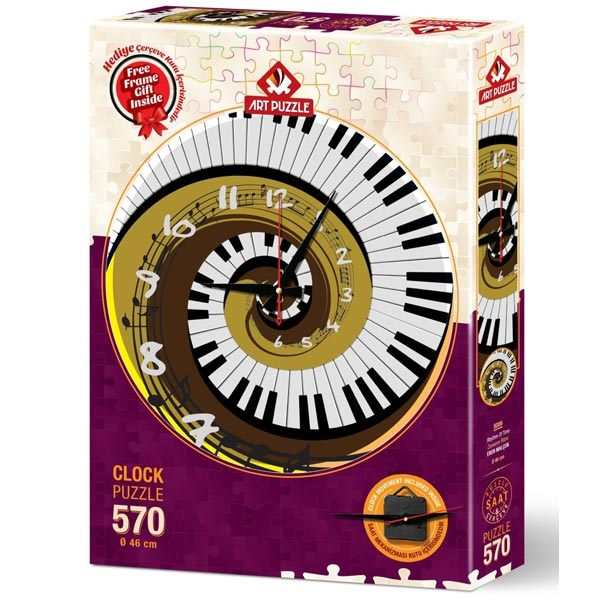 Art puzzle Clock - Rhythm of Time 570pcs  - ODDO igračke