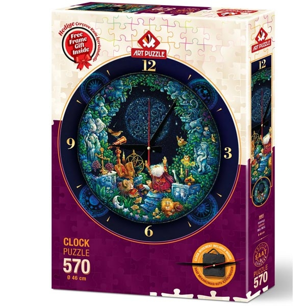 Art puzzle Clock - Astrology 570pcs - ODDO igračke